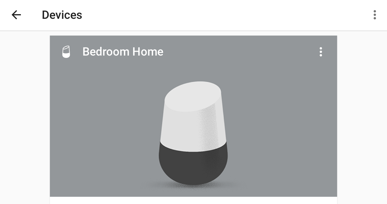 google home for ios - devices