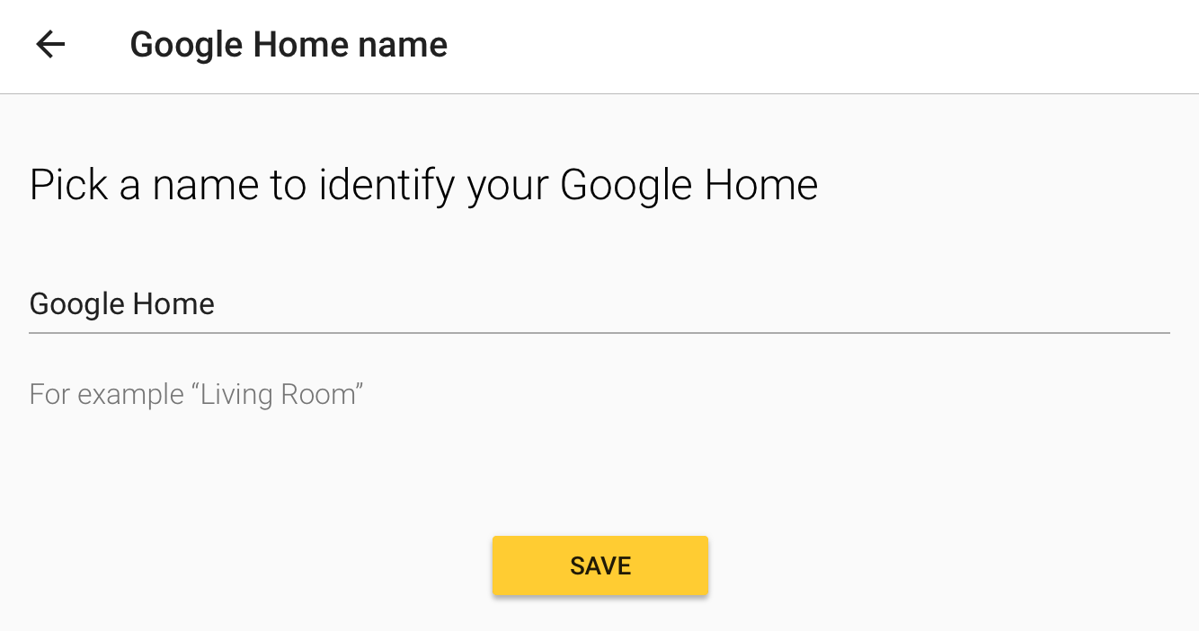save new name google home device chromecast