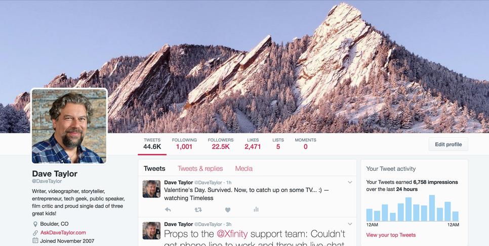 twitter profile @DaveTaylor