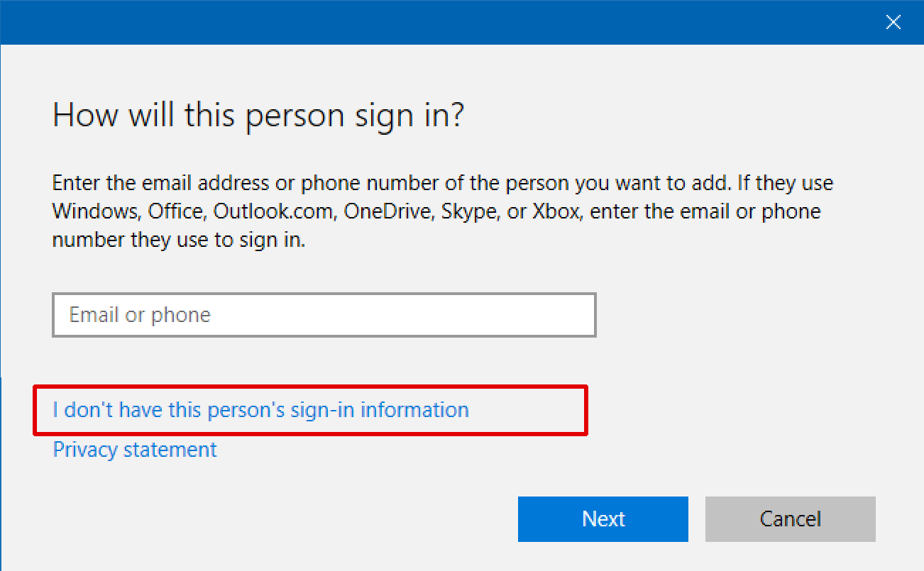 add a new user to windows 10 win10 pc system laptop