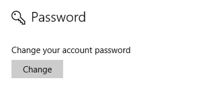win10 windows 10 change password