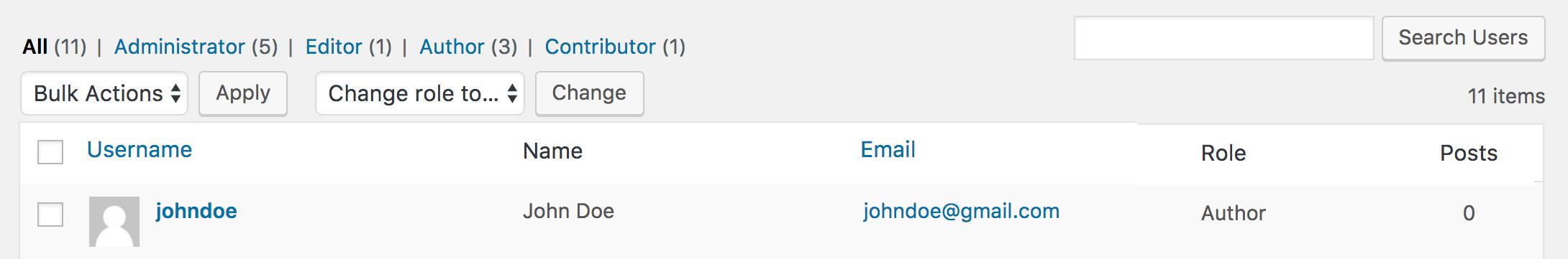 wordpress add list all users