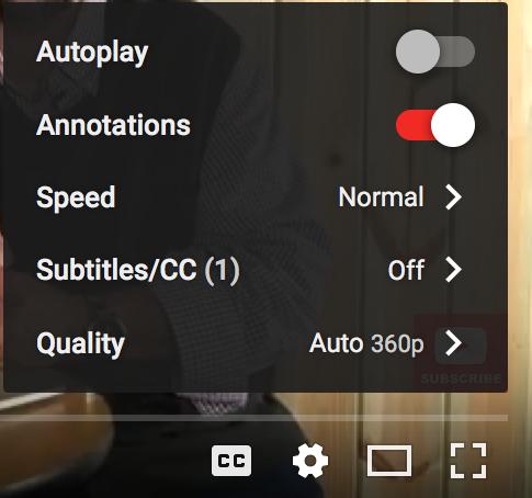 youtube settings video