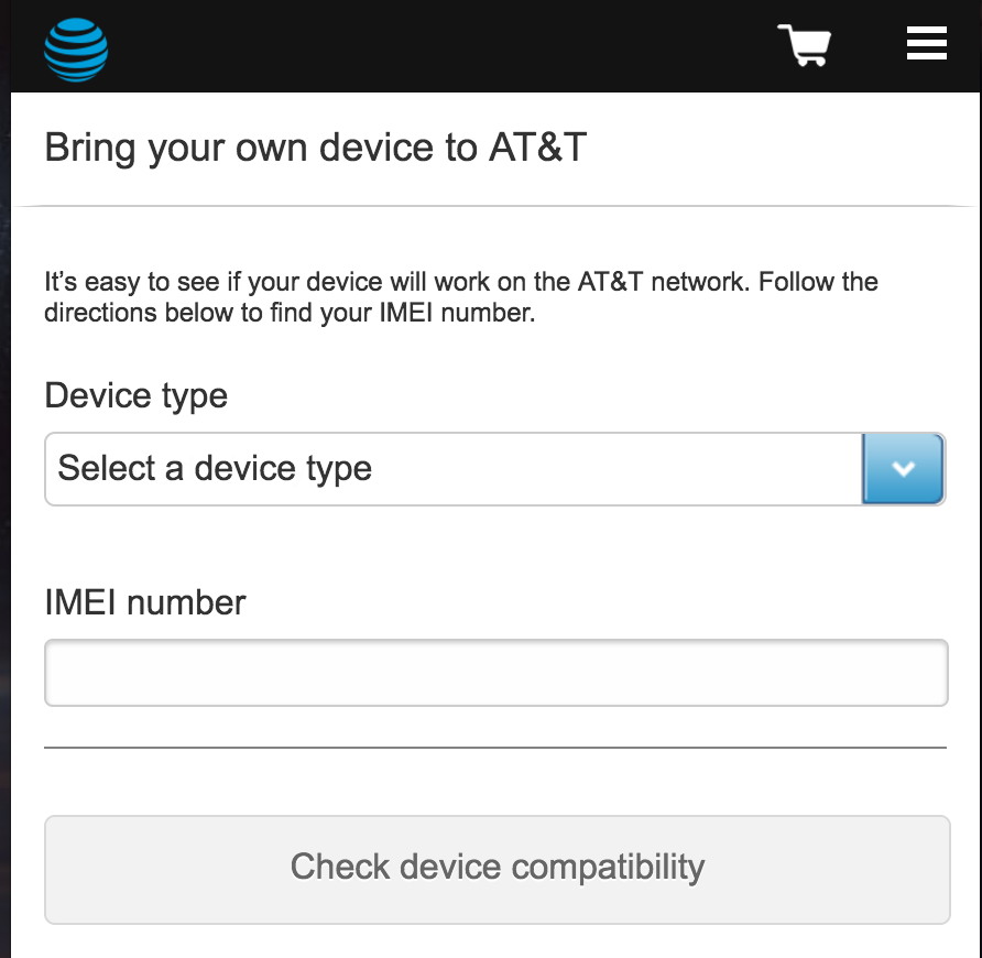 at&t wireless mobile lookup imei