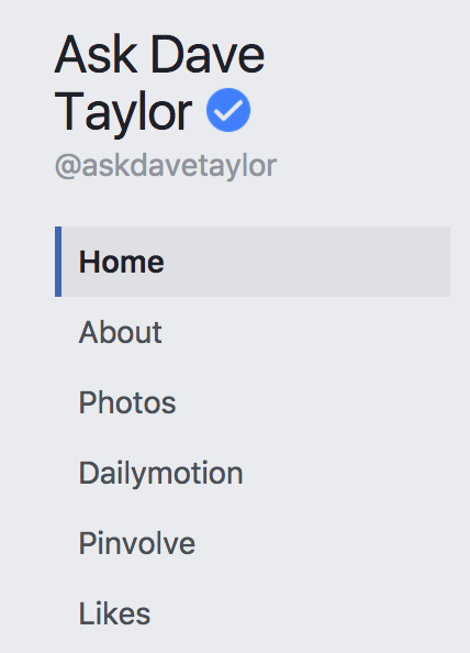 facebook business page tabs - ask dave taylor