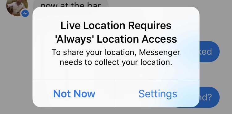 live location facebook messenger share