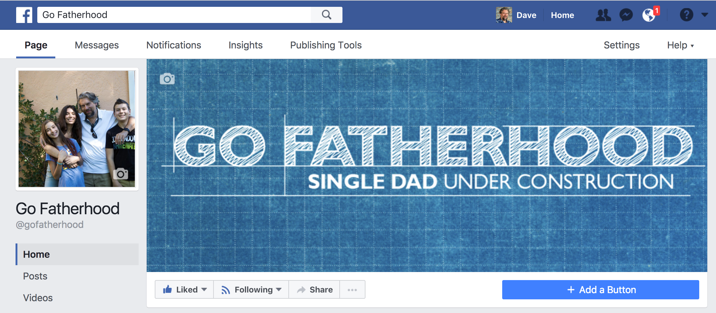 facebook business page gofatherhood top banner