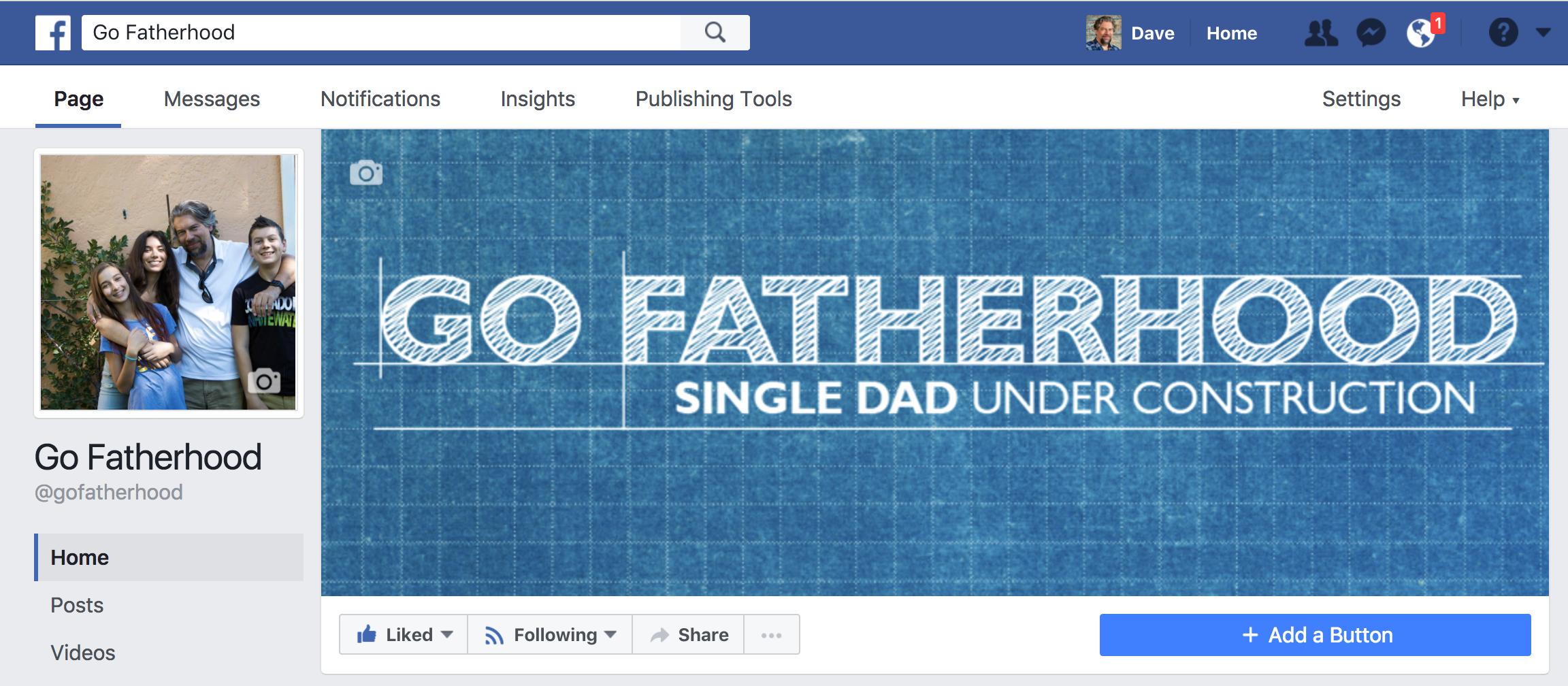 facebook business page gofatherhood top banner