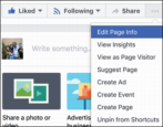 how to edit update about info, facebook business fan page