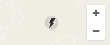 lightning bolt icon button graphic, google maps lite
