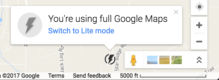full google maps mode switch to lite