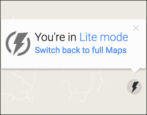 google maps lite mode regular full mode bandwidth