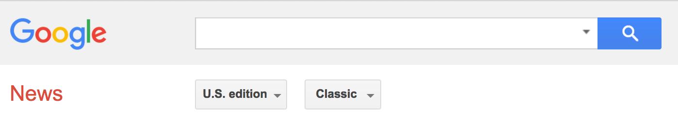 google news search box