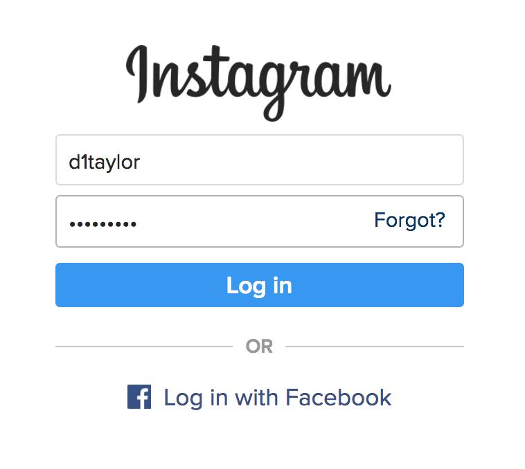 login to instagram