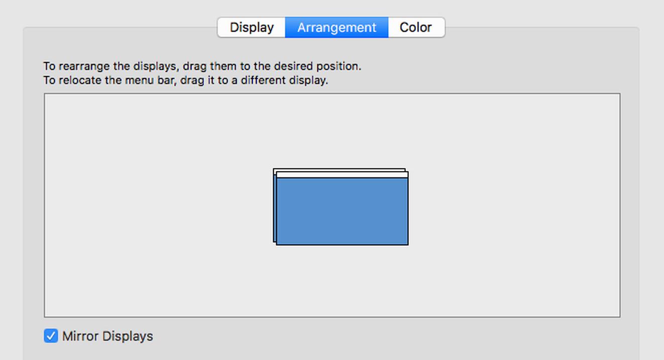 mirrored displays, mac os x