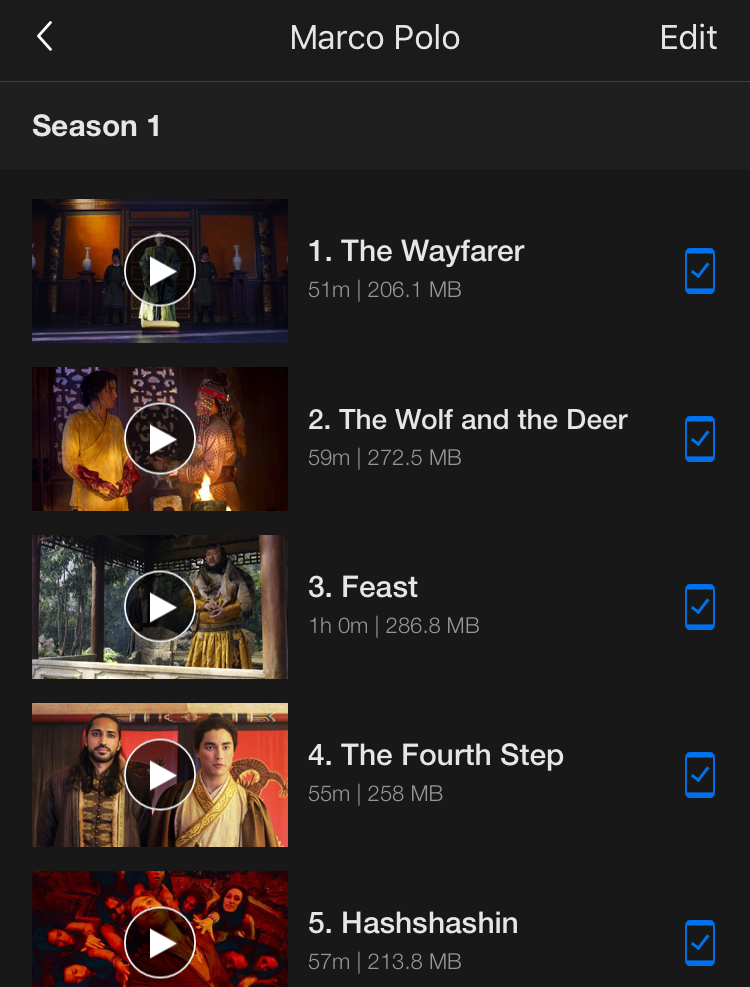 marco polo downloaded tv episodes, netflix