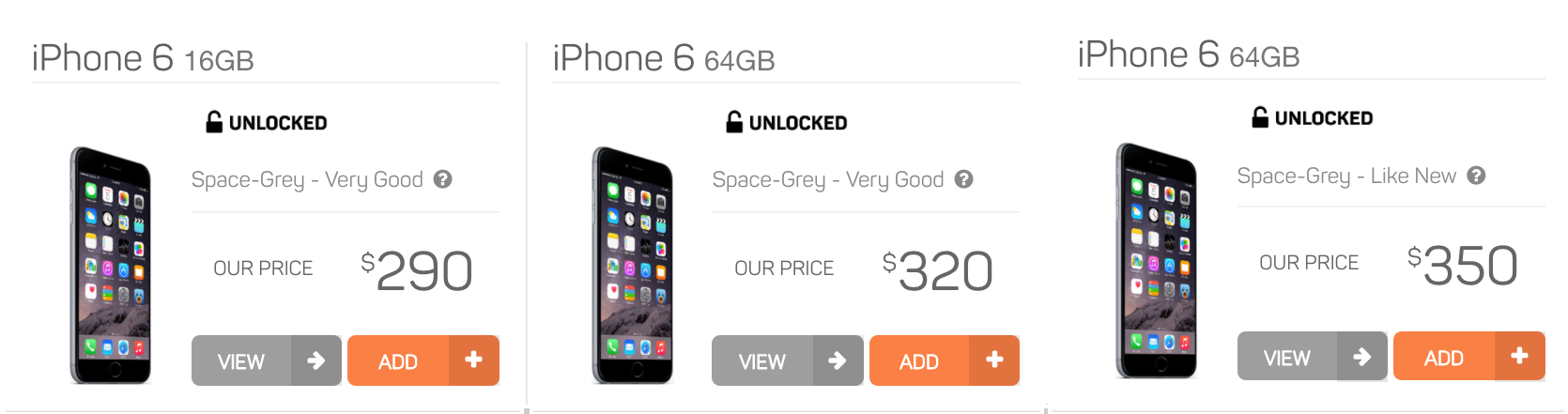 orchard labs used apple iphone marketplace - iphone 6 choices
