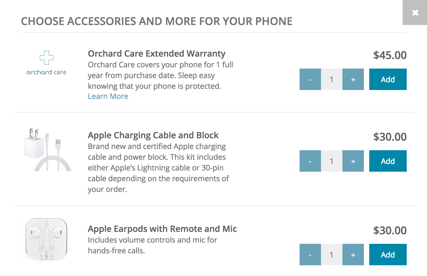 optional upgrades for used iphone, get orchard labs