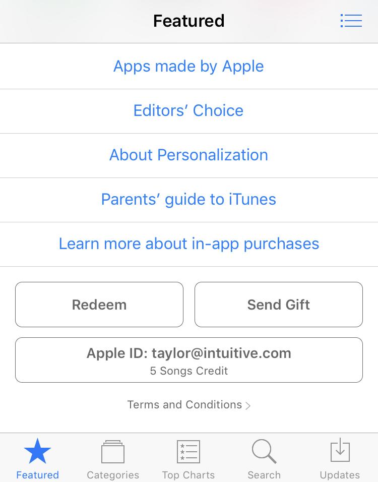 itunes app store, iphone ipad ios, bottom of main screen
