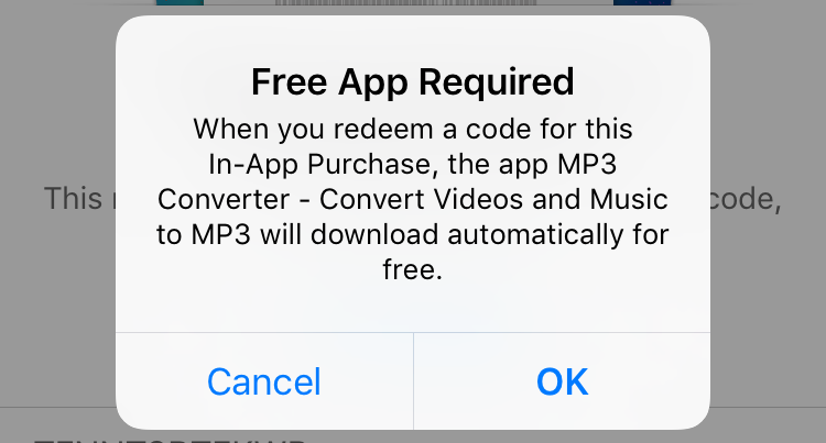 free app required - download? itunes app store redemption code