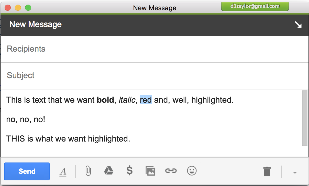 How do I highlight text in Gmail? - Ask Dave Taylor