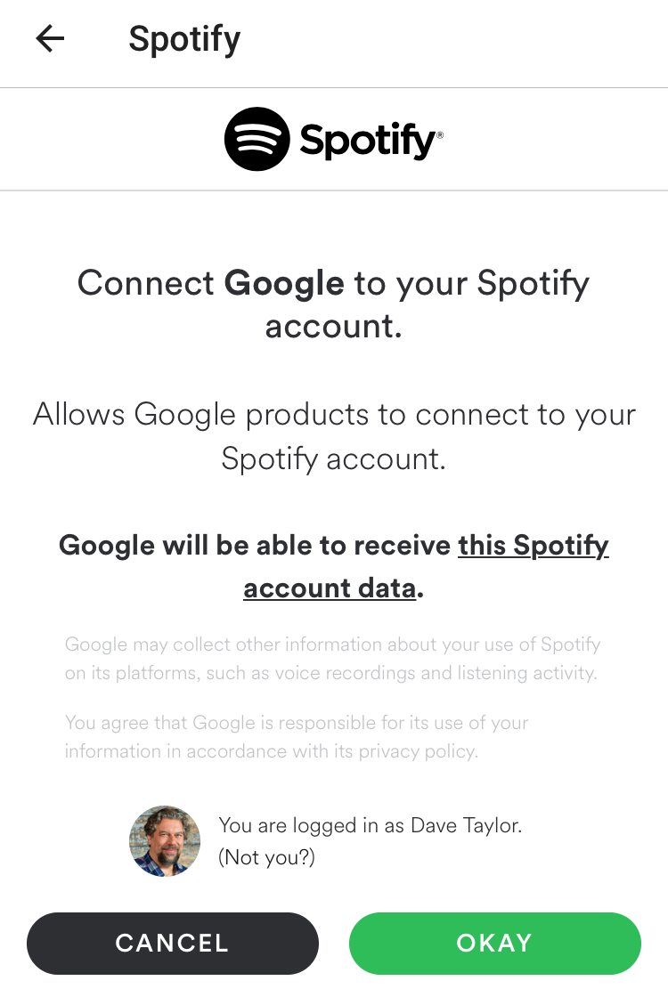 are you sure connect spotify google home
