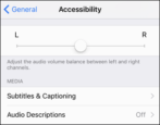 how to change adjust audio sound balance iphone ipad iod
