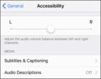 how to change adjust audio sound balance iphone ipad iod