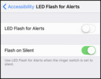 enable turn on led flash for alerts phone calls ringing apple iphone ios