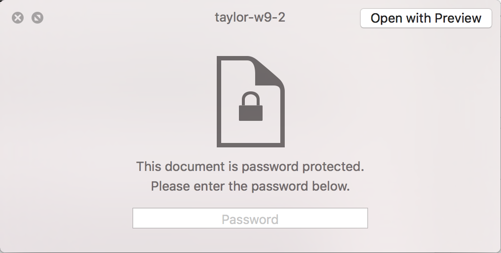 how to add password to pdf mac preview