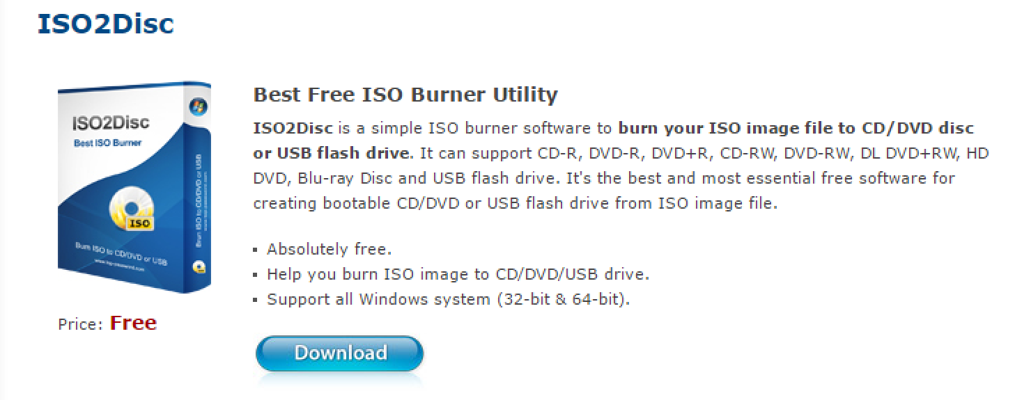 iso2disc free download iso burner