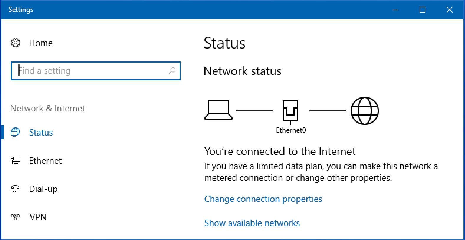 win10 network status