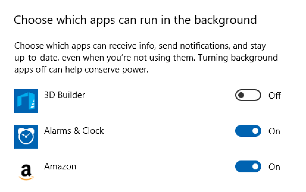win10 which apps run background