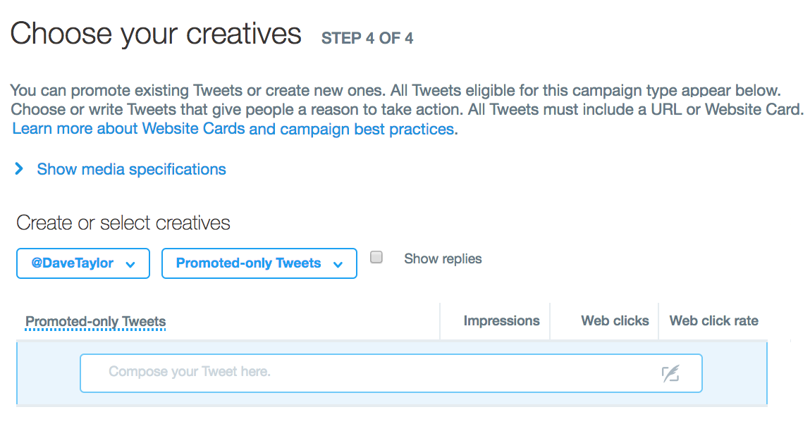 add creative, twitter ad