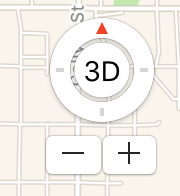 compass and zoom controls, apple maps