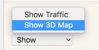 show 3d map, apple maps