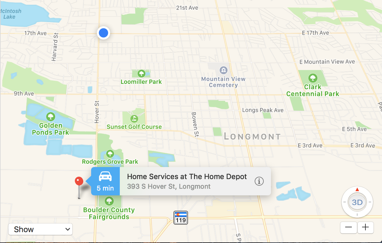 directions to the closest home depot near me with Find Nearby Stores Apple Maps on 28523094 additionally Walmart Supercenter Locations Near Me also 98436014 as well The Home Depot Santa Rosa 2 furthermore 7712122.
