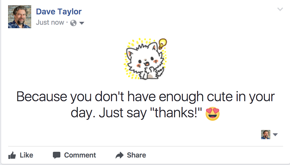 how to add stickers to your facebook status