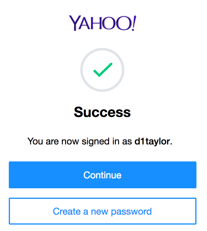 who changed my yahoo password