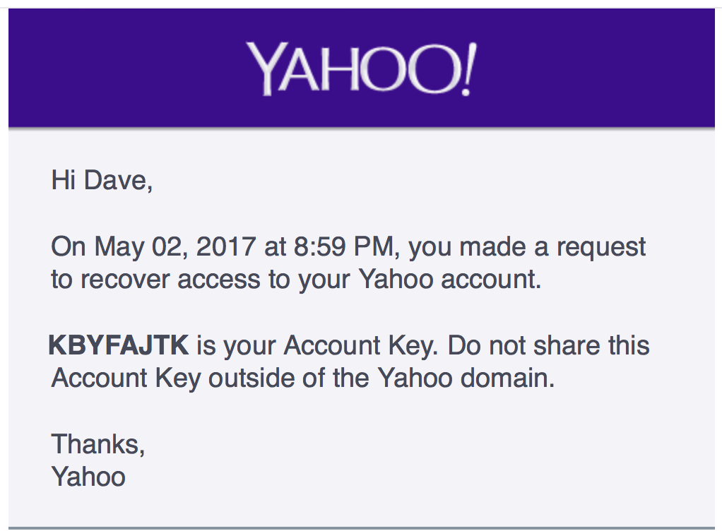 yahoo recover account