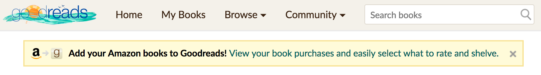 goodreads hook up your amazon purchases
