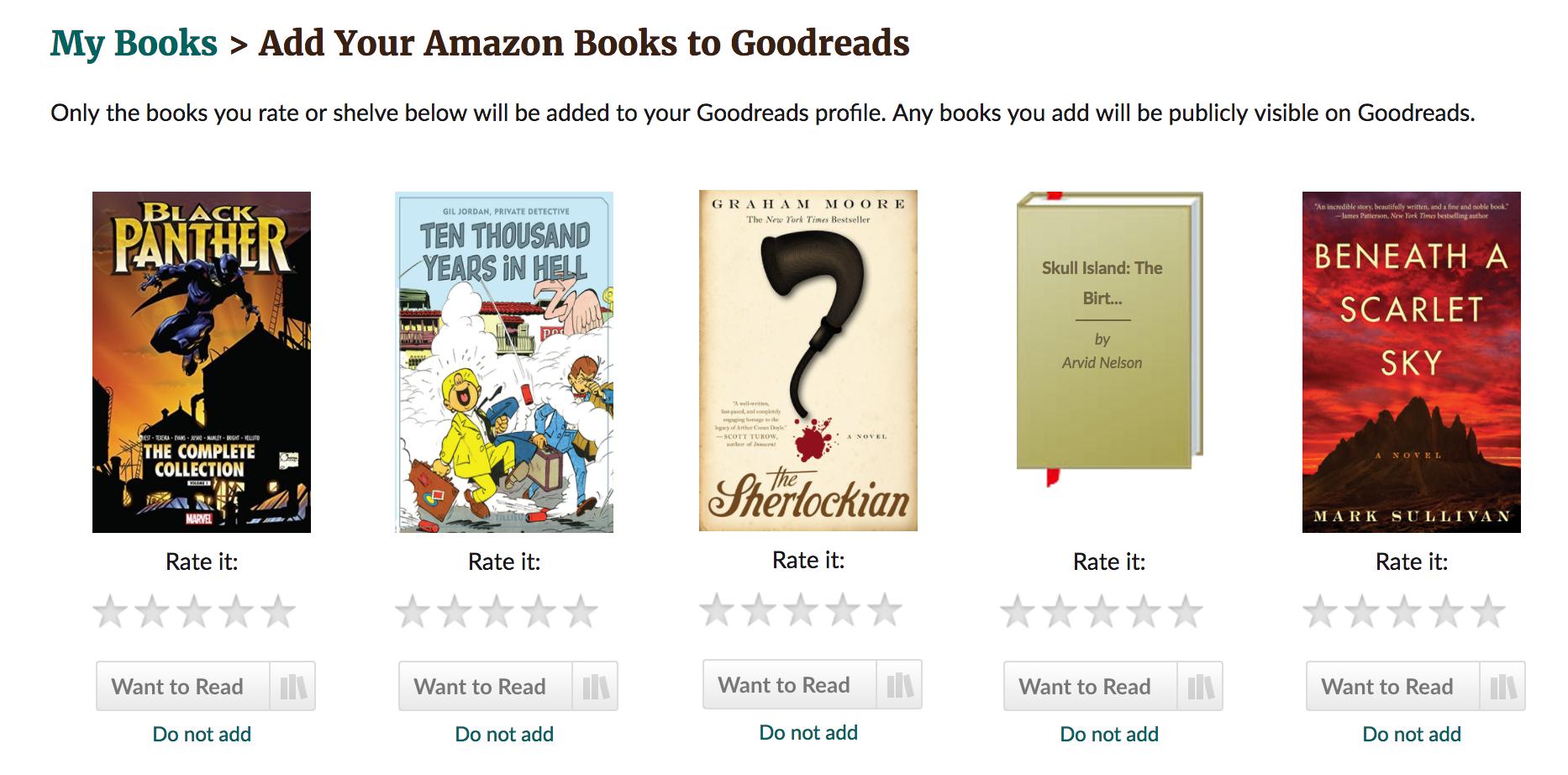 goodreads books I purchased on amazon