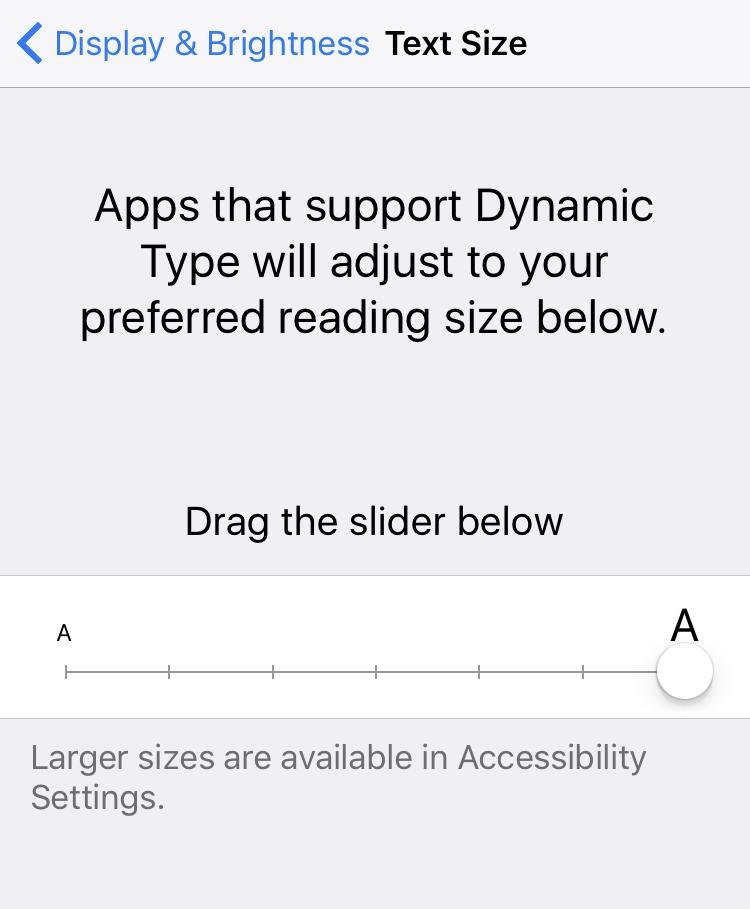 iphone ipad text bigger setting