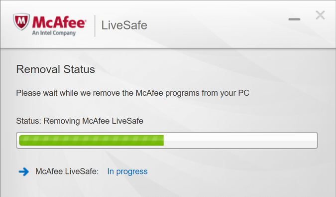 removing mcafee livesafe anti-spyware anti-virus win10