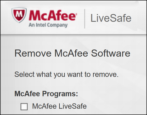 how to remove uninstall delete mcafee livesafe anti-virus