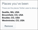 twitter tracks stores location gps privacy