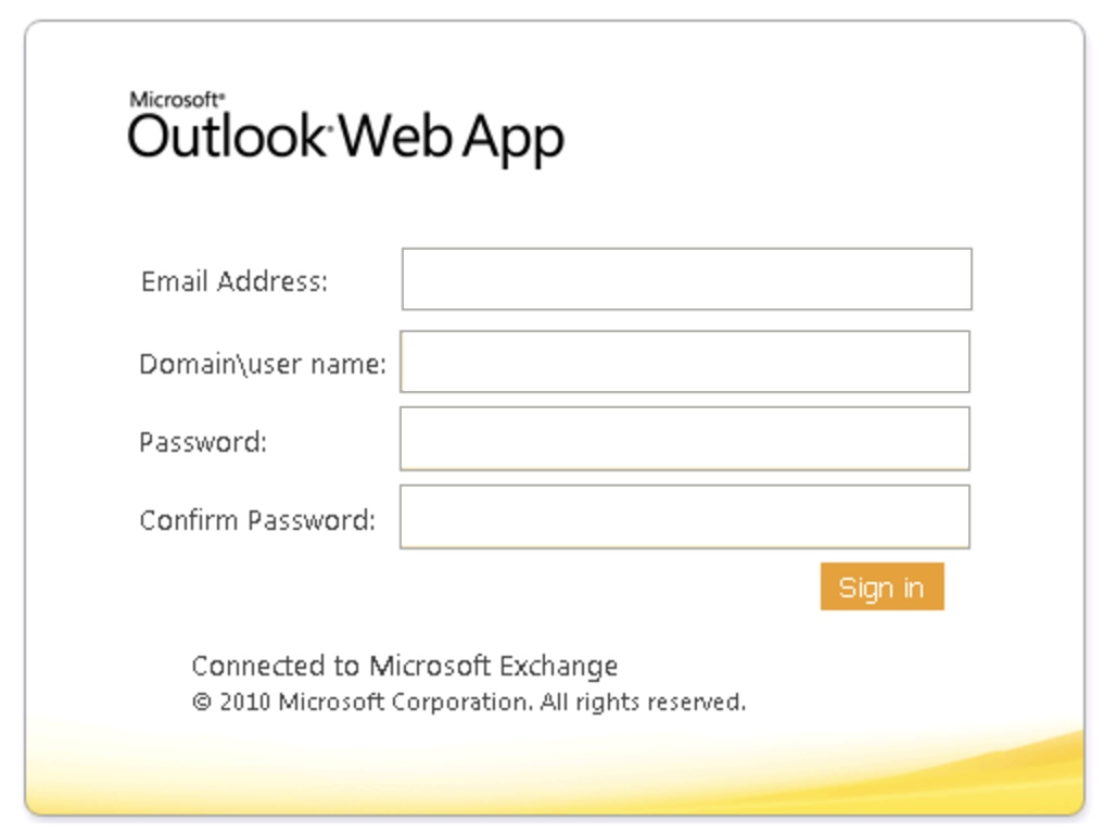 log in outlook web app phishing scam fake