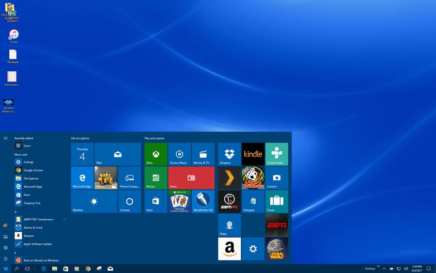 windows 10 win10 start menu tiles