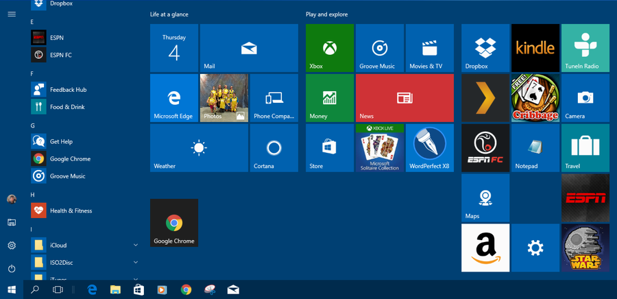 how to add live tiles windows 10