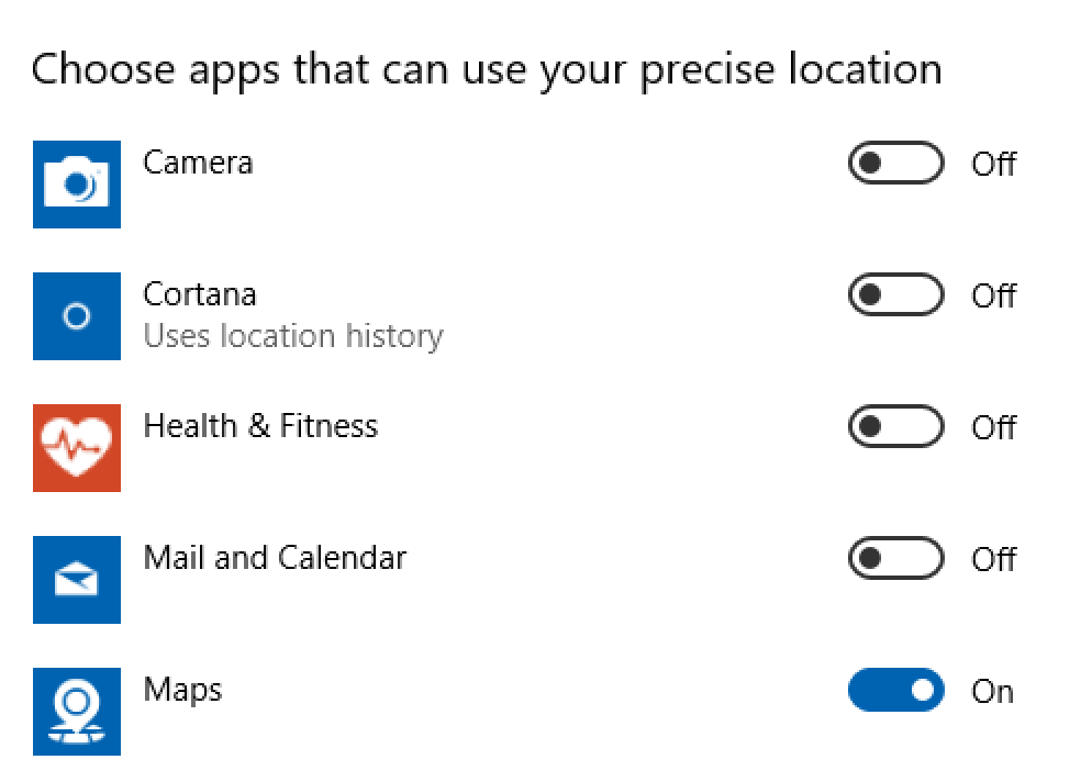 win10 apps that can check my location
